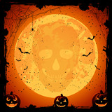Skull on Moon background