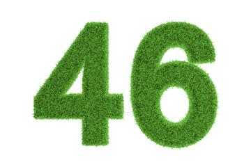 Number 46 with a green grass texture