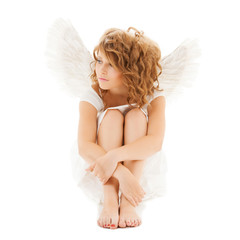 sad teenage angel girl