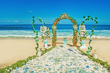 wedding venue on the beach, bali
