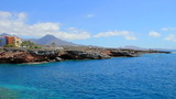 Luxury houses on beautiful coast in Playa Paraiso. Tenerife.