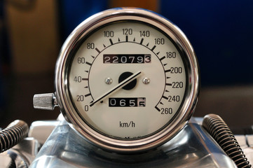 Motorcycle tachometer.