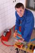 Artisan sawing plastic tube