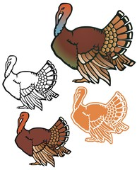 Fat turkey with variations