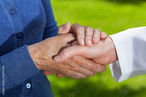 Handshake, closeup