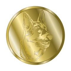 Deutscher Schäferhund - Medaille gold