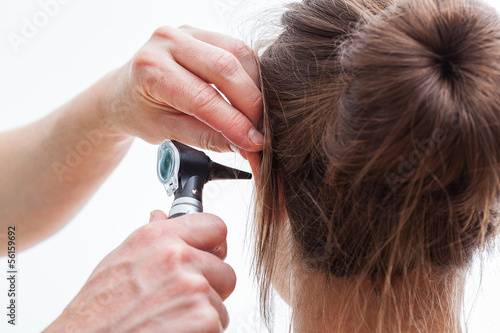 Ear examining, isolated