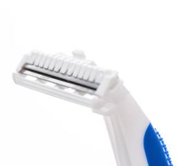 White and blue razor