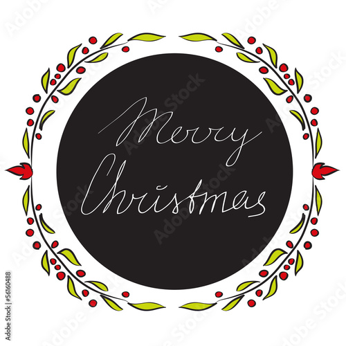 Merry Christmas - vector greeting card