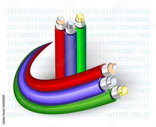 Fibre Optic. Vector illustration