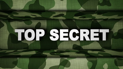 TOP SECRET Text in Military Door (2 Versions)