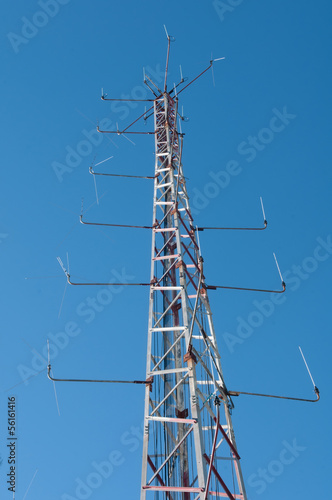 Communication Station with blue sky.