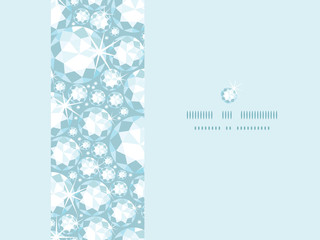 Vector shiny diamonds horizontal frame seamless pattern