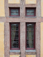 window timber frame wall