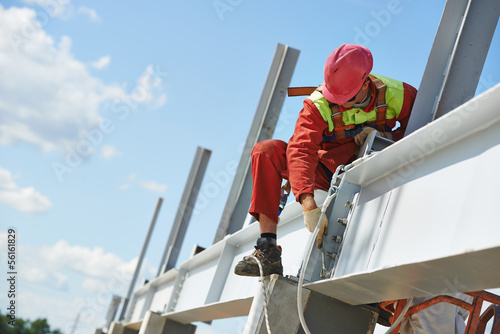 builder millwright worker at construction site