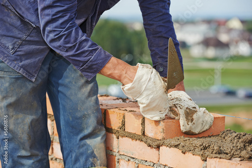 construction bricklayer work
