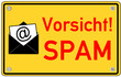 Spam Internet email Schild  #130913-svg05