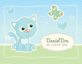 Baby boy birth announcement standard postcard