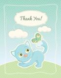 Baby boy thank you standard postcard