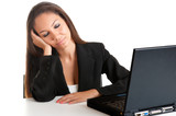 Businesswoman Sitting at Her Desk Sleeping