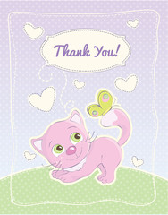 Baby girl thank you standard postcard