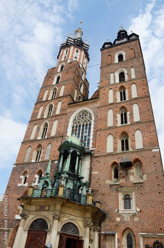 Mariacki Church - famous gothic church in Krakow,Poland