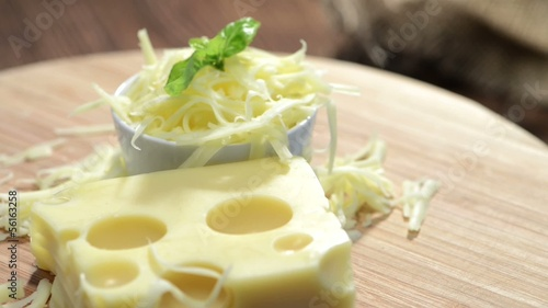Rotating Emmentaler Cheese