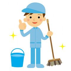 清掃員 男性