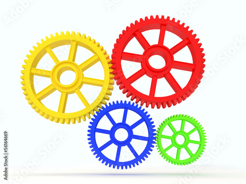 3d colourfull cog icon