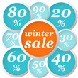 winter circle labels discount flat