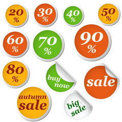 autumn circle labels discount