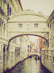 Bridge of Sighs Venice retro look