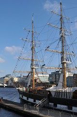 Tall Ship in Dublin, Ireland