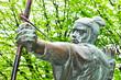 Detail of Robin Hood statue in Nottingham, UK - 56166625