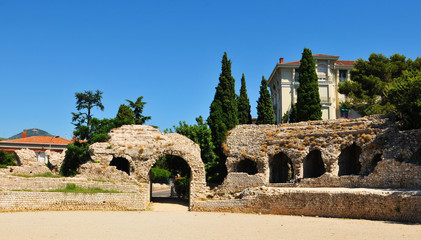 Roman ruins of Cemenelum in Cimiez, Nice  France