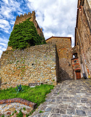 Medieval Italy. Old tower in Montecatini Alto. (HDR image)