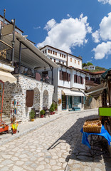 Alley in the picturesque village of Makrinitsa, Pelion, Greece