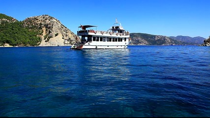 ferry boat in turunc turkey