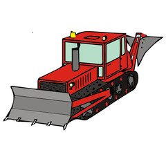 vector drawing of a bulldozer
