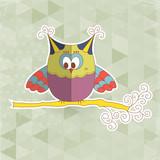 Cute owl vector illustration