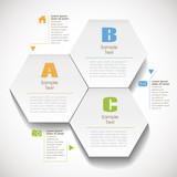 Fototapety vector abstract 3d hexagonal paper infographics