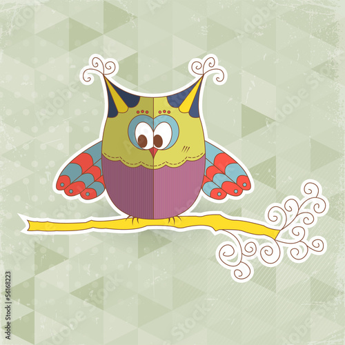 Cute owl vector illustration - 56168223