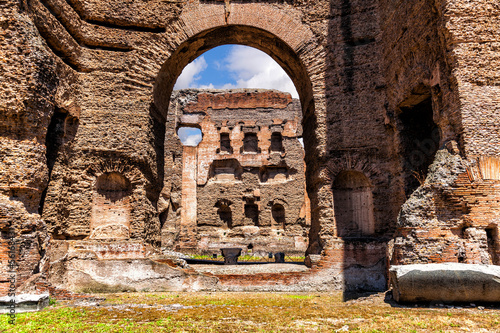 The ruins of the Baths of Caracalla. (Thermae Antoninianae)