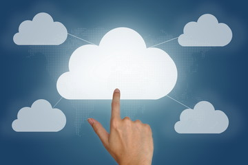 cloud computing concept with blank space