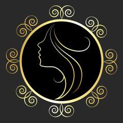 design for salon shop, a profile of the girl