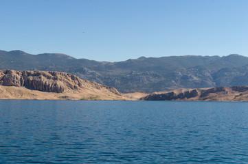 Felsiges Ufer Insel Pag