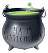 Happy Halloween witch cauldron