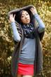 Autumn fashion with asian girl