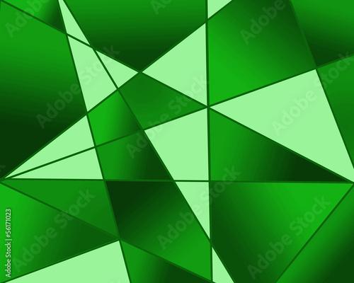 緑のステンドグラス模様
