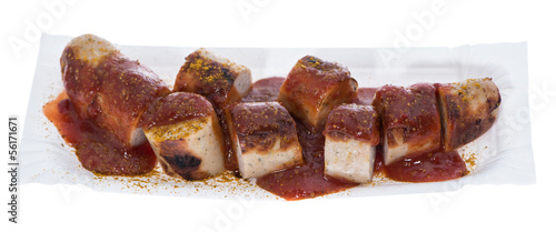 Isolated Currywurst